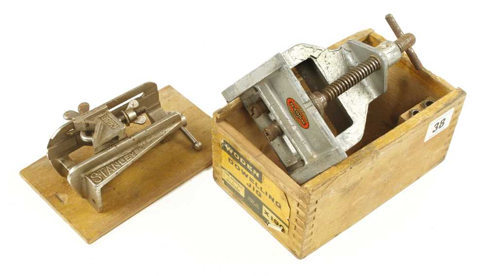 Lot 38 - A WODEN dowelling jig in orig box and a STANLEY No 59 G+