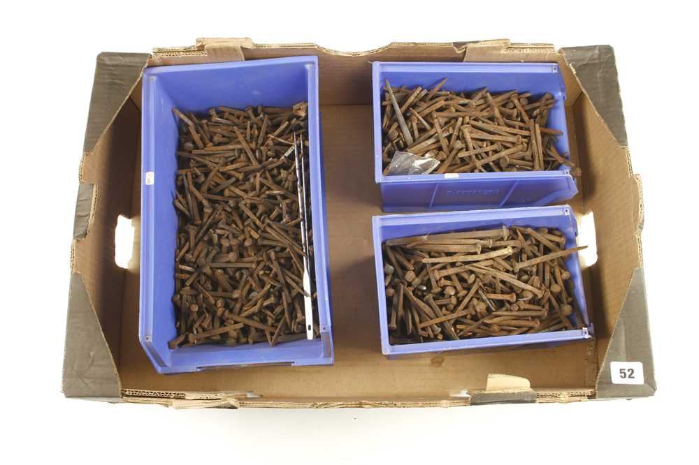 Lot 52 - Quantity of old square nails G