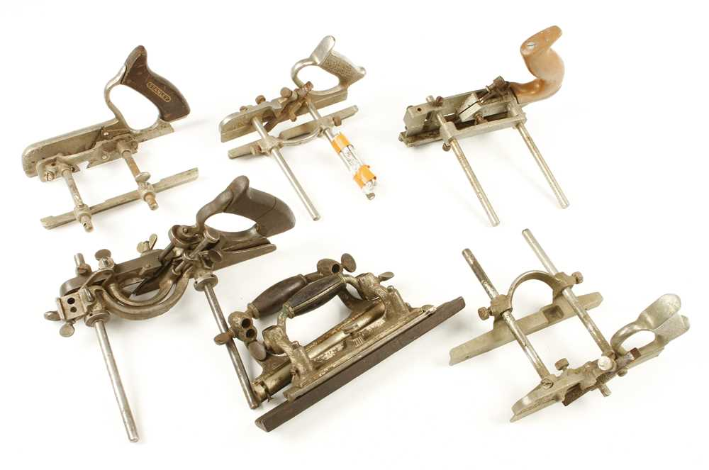 Lot 47 - Five part combination planes by STANLEY and RECORD G-