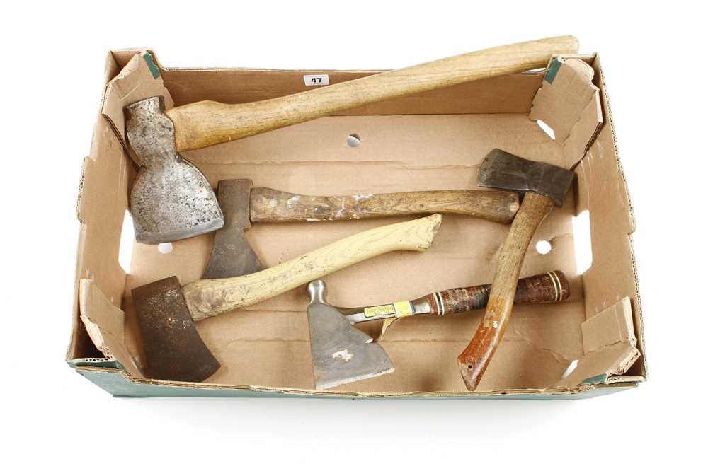 An ESTWING hatchet and 4 others G