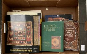 A selection of books relating to eastern rugs and carpets, to include 'The Book of Carpets, by