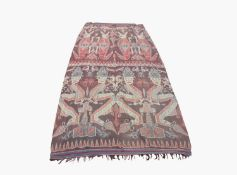 A large cotton warp Ikat blanket, Sumba, Eastern Indonesia, with receipt of purchase in 2003 at '