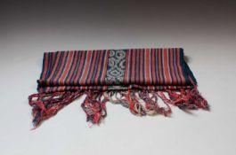 A warp Ikat woven scarf/runner, cotton Oecussi, Timor Leste, 44 x 160cm.