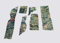 Flemish tapestry fragments, 18th century.Condition report: Sizes from left to right: column one