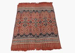 A ceremonial warp Ikat cotton weaving, Sa'dan, Toraja, Sulawesi, Indonesia, 148 x 128cm.Condition