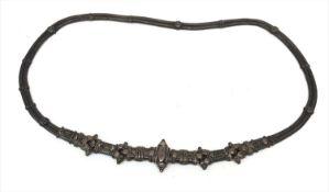An Indian silver belt, Andhra Pradresh, early 20th century, length 74cm.