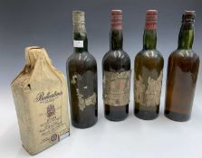 A vintage bottle of Ballantine's finest Scotch Whisky, retaining original tissue wrapper, together