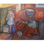 THE HEARTH LETTERMULLEN, 1950 by Alicia Boyle RHA, 1908 - 1997
