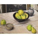 APPLES AND LEMONS IN A BLACK BOWL by Rose Brigid Ganley