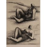 FIGURES RECLINING by Henry Moore