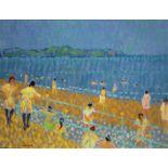 SPANISH BEACH by Desmond Carrick 1928 - 2012