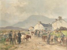 A COUNTRY MARKET by Frank McKelvey