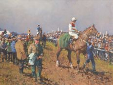 THE PADDOCK AT KILFEACLE, THE SCARTEEN POINT TO POINT by Peter Curling