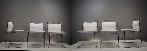 A SET OF SIX  'MODEL TULU' DINING CHAIRS, ITALIAN, by Kazuhide Takahama for Gavina, 1960s, with