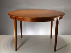 "A TEAK ""MODEL 15"" EXTENDING DINING TABLE, by Niels Otto Moller, Danish 1960's, for J.L. Moller, with"