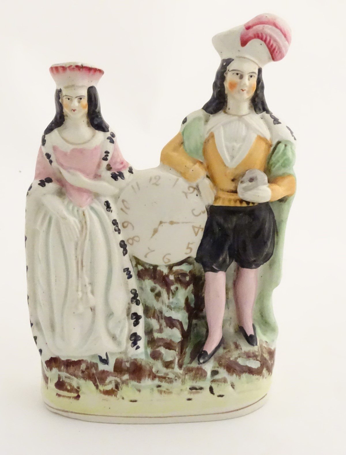 Lot 48 - A Victorian Staffordshire figural group depicting the Shakespeare characters Lady Macbeth and