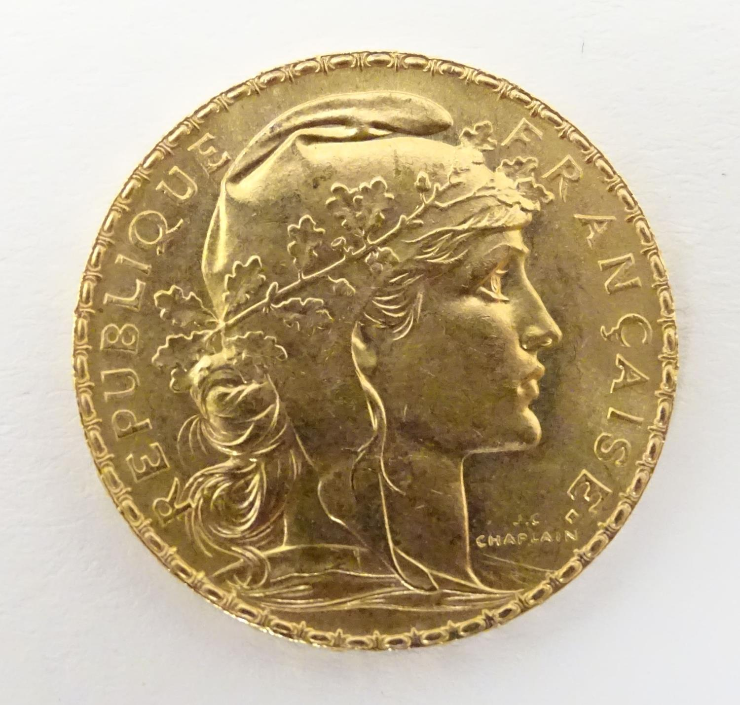 1911 20 franc french gold coin
