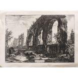 """Giovanni-Battista Piranesi (1720-1778) - """"Avanzi degli'Acquedotti Neroniani che si [...]"""