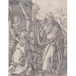 """Albrecht Dürer (1471 - 1528) , """"Christ prenant le congé de sa mère"""" vers 1509, [...]"""