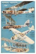 * Imperial Airways. The Greatest Air Service in the World poster
