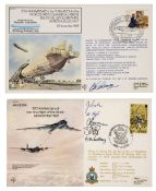 * First Day Covers. An extensive collection of signed aviation FDCs