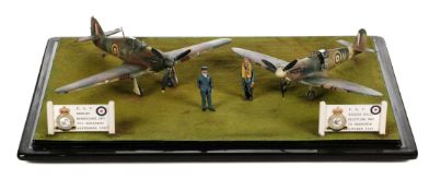 * Battle of Britain. A fine WWII airfield diorama by Dennis Green circa 1990s