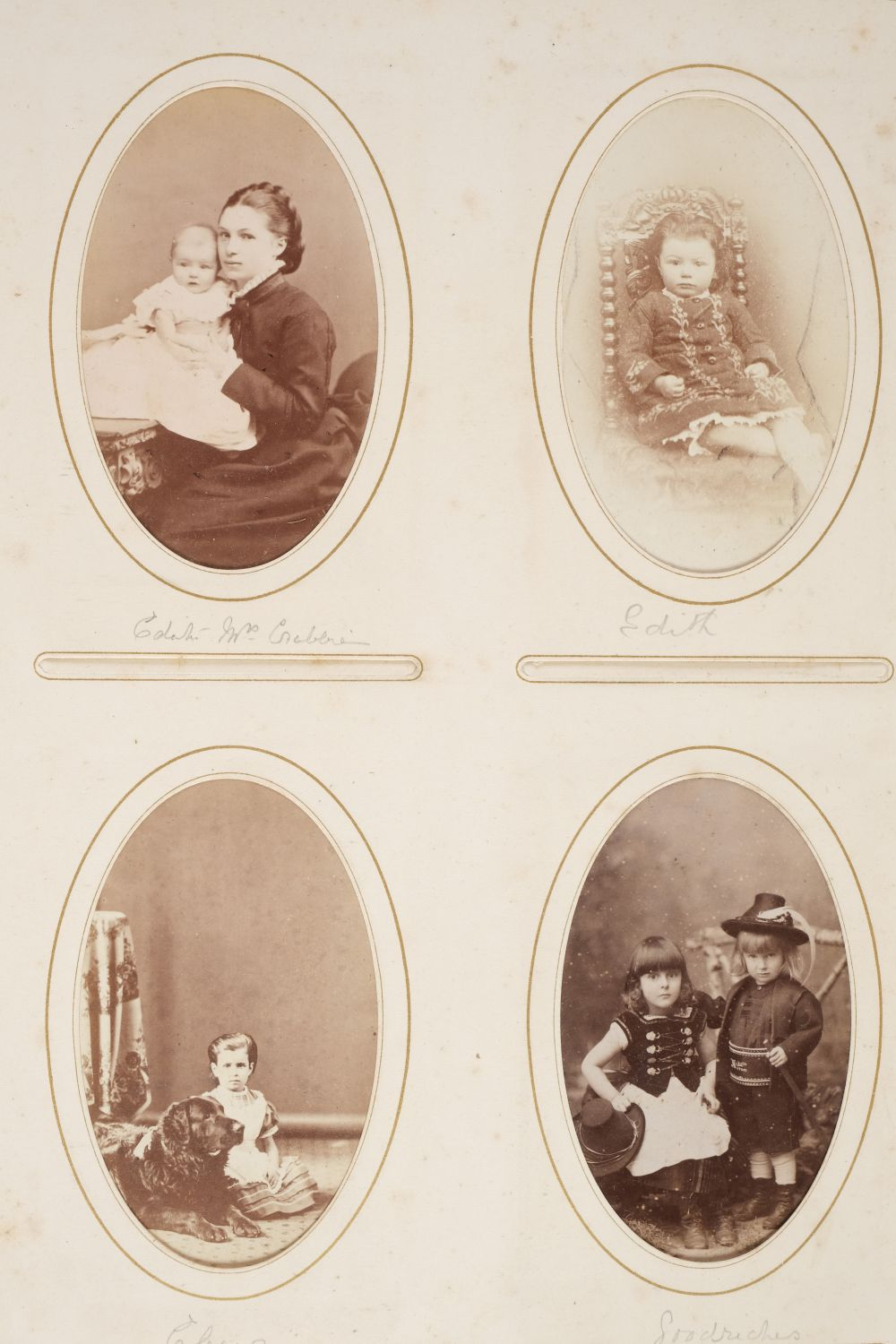* Cartes de visite. A group of 3 albums of cartes de visite and cabinet cards - Image 17 of 26