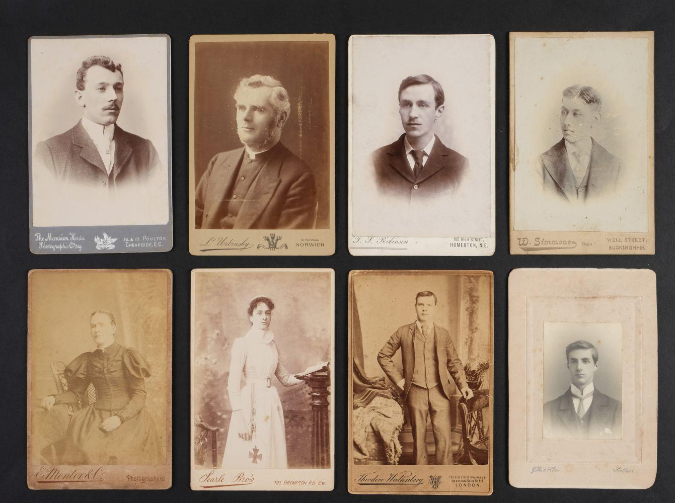 * Cartes de Visite. A collection of approx. 140 albumen print cartes de visite, 1860s and later - Image 4 of 21