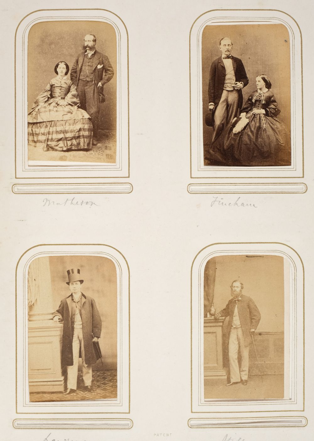 * Cartes de visite. A group of 3 albums of cartes de visite and cabinet cards - Image 14 of 26