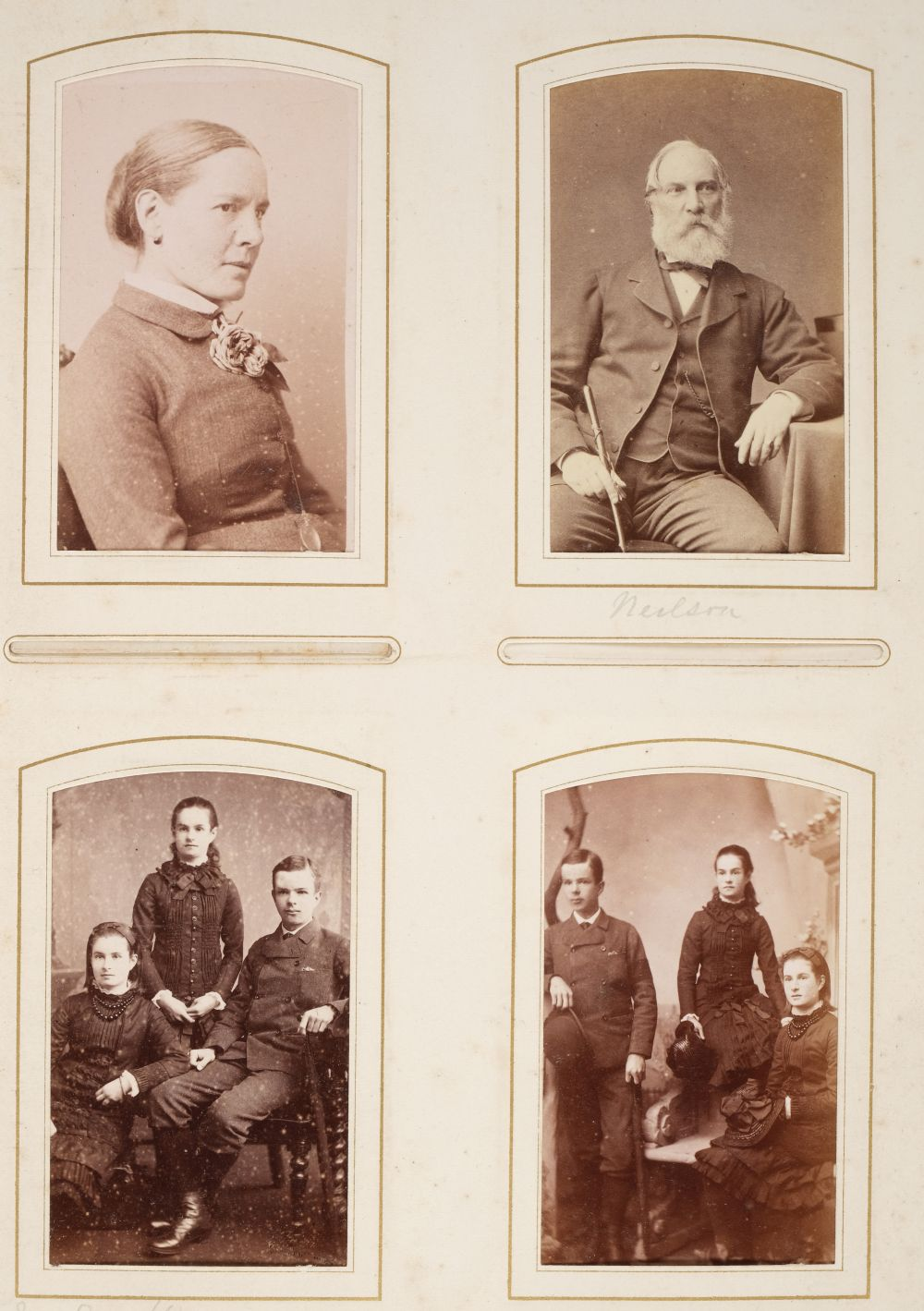 * Cartes de visite. A group of 3 albums of cartes de visite and cabinet cards - Image 22 of 26