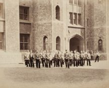 * Fenton (Roger, attributed to). Military band on parade, c. 1858-1860