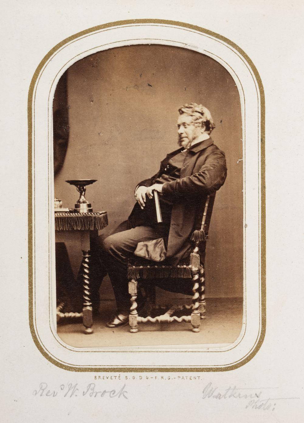 * Cartes de visite. A cartes-de-visite album, c. 1860s/1880s