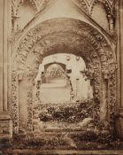 * English School. A large-format toned albumen print of Norman Door, Glastonbury Abbey, c. 1860