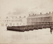 * Attributed to Roger Fenton (1816-1869). Military Parade, with an officer on horseback