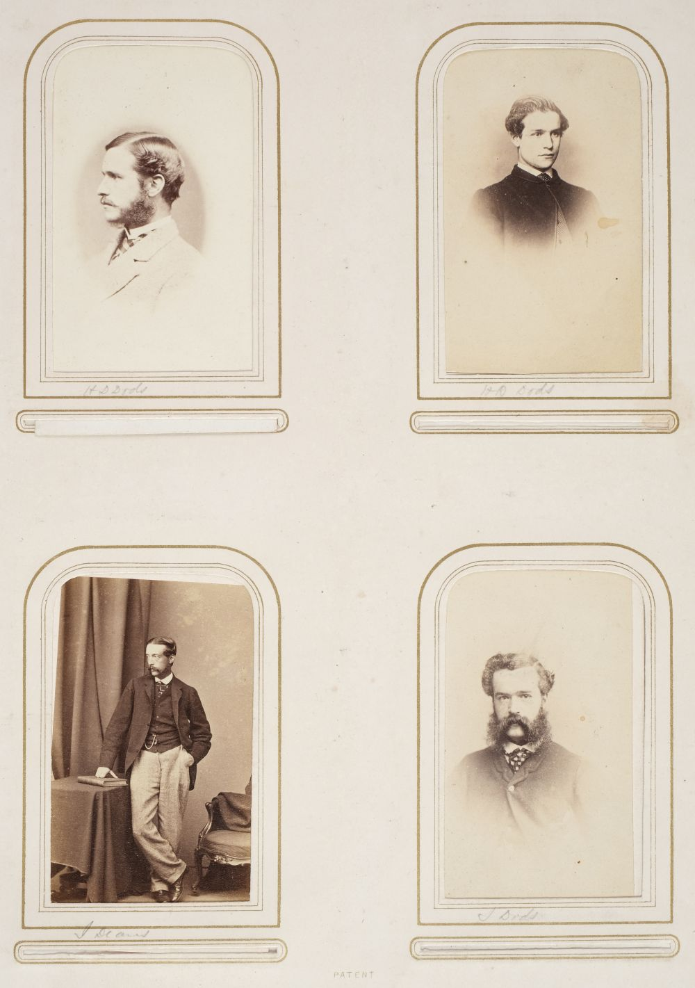 * Cartes de visite. A group of 3 albums of cartes de visite and cabinet cards - Image 6 of 26