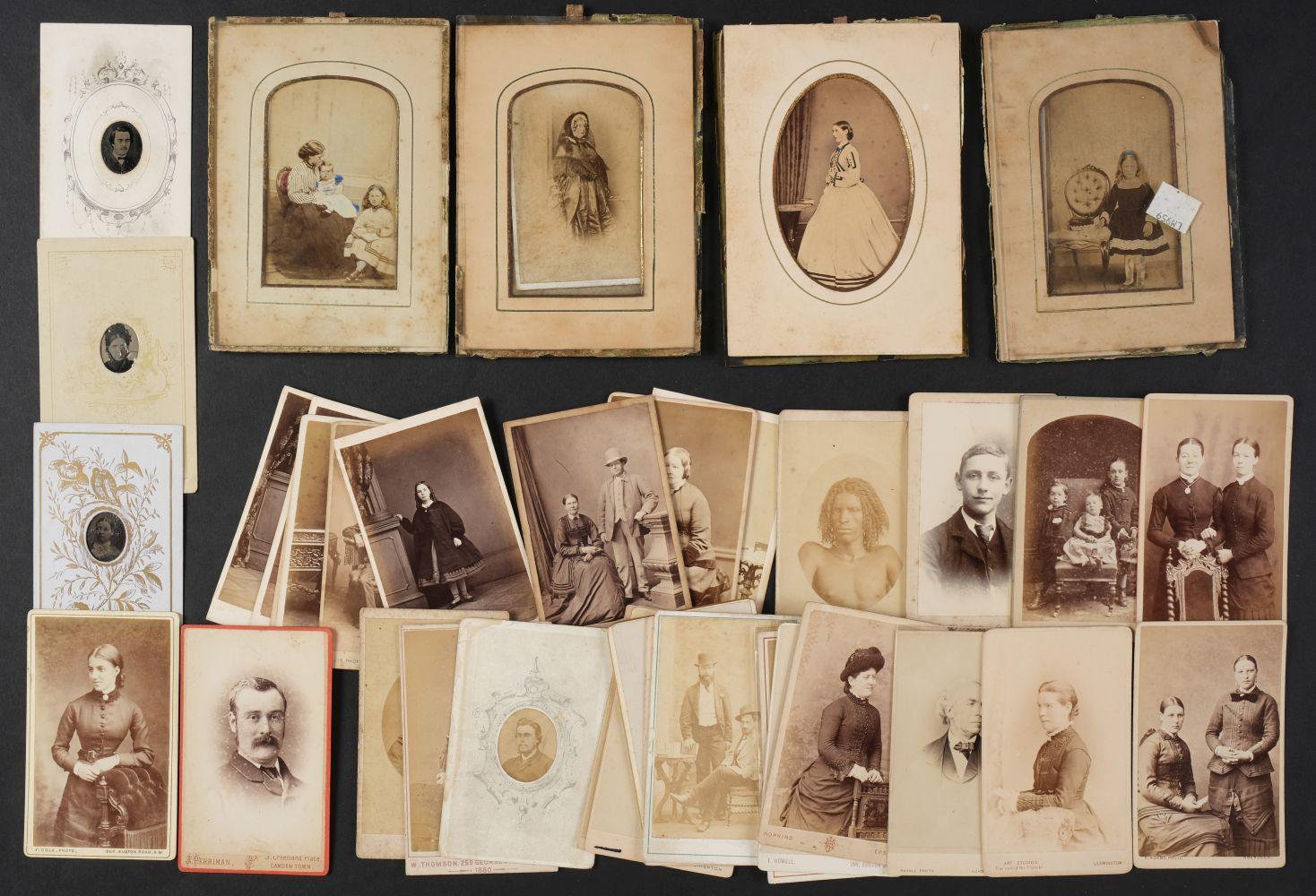 * Cartes de Visite. A collection of approx. 140 albumen print cartes de visite, 1860s and later - Image 17 of 21