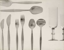 * Glassware & Cutlery. A portfolio of 14 large gelatin silver print photographs, 1960s