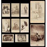 * Cartes de visite. A group of 3 albums of cartes de visite and cabinet cards