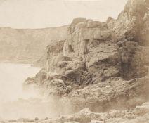 * Sutton (Thomas, 1819-1875). Rocks and waves, Jersey, 1854, Blanquart-Evrard process print