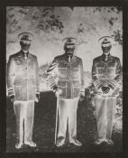 * George V (King of Great Britain). A group portrait of the 'Three Kings' in Royal Air Force uniform