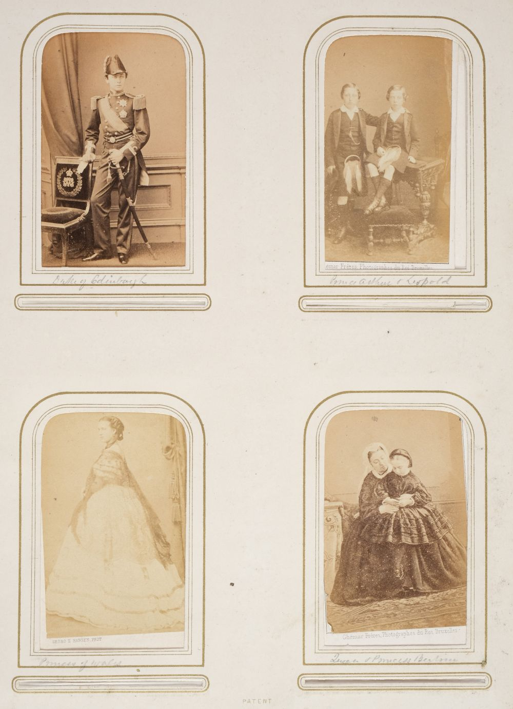* Cartes de visite. A group of 3 albums of cartes de visite and cabinet cards - Image 3 of 26