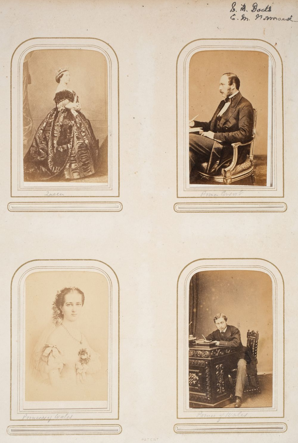 * Cartes de visite. A group of 3 albums of cartes de visite and cabinet cards - Image 2 of 26