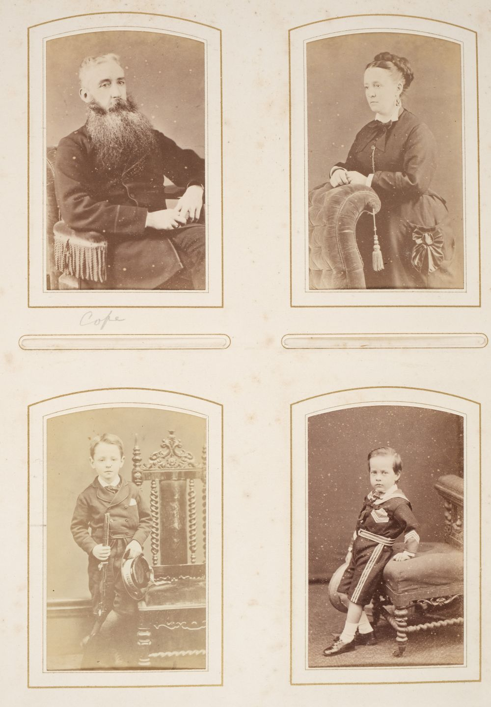* Cartes de visite. A group of 3 albums of cartes de visite and cabinet cards - Image 18 of 26