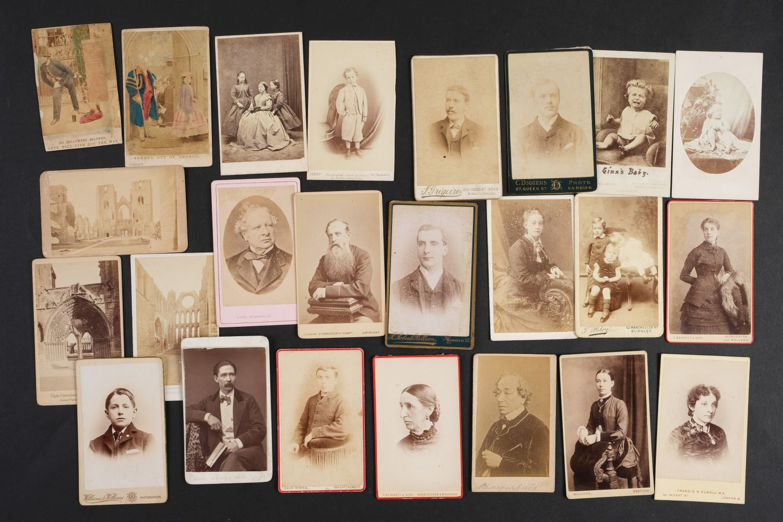 * Cartes de Visite. A collection of approx. 140 albumen print cartes de visite, 1860s and later - Image 18 of 21
