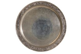 CHINESE EXPORT SILVER TRAY, LUEN WO, SHANGHAI, EARLY 20TH CENTURY