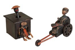 TWO CHINESE WOODEN NOVELTY TOYS, EARLY 20TH CENTURY