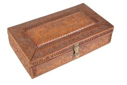 CARVED SANDALWOOD BOX, INDIA, 19TH CENTURY