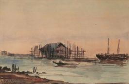 WAKIDI (INDONESIAN 1889-1979), FISHING BOATS