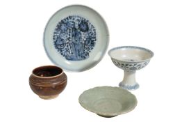 BLUE AND WHITE DISH, LATE MING