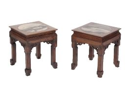 FINE PAIR OF HUANGHUALI STOOLS, QING DYNASTY